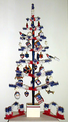 Patriotic Christmas Trees.Twins Feather Trees Inc Trees For All Seasons